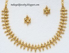 Simple Gold Diamond Necklacelatest Indian Gold And Diamond Jewellery Designs Simple Uncut Dgsodlw