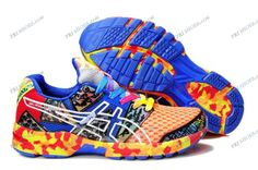 Asics Gel Noosa Tri 8 Orange/Blue/White Mens Sports Running Shoes