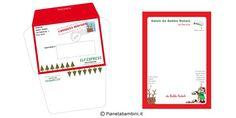 Busta e Lettera Originale da Babbo Natale ai Bambini da Stampare