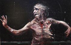 Olivier de Sagazan    (painting 2010-2011)