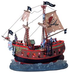this one rocks front to back and will look good with our other pirate ship