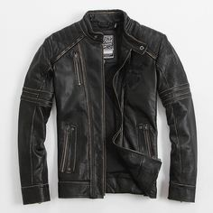 Find More Leather & Suede Information about Men's Leather Jacket Edging…