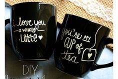 DIY Sharpie Mugs   DIY Valentine Gifts for Him   Boyfriend   Husband