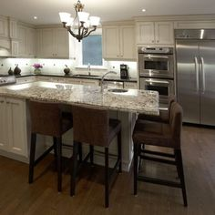 44 best kitchen island overhang images kitchen kitchen - Square kitchen island with seating ...