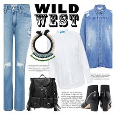 """Wild West Style"" by ifchic ❤ liked on Polyvore featuring Anja, Edit, AG Adriano Goldschmied, Yves Saint Laurent, Joomi Lim, contestentry, wildwest and ifchic"
