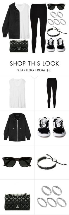 """#13900"" by vany-alvarado ❤ liked on Polyvore featuring T By Alexander Wang, Alexander Wang, Ray-Ban, Links of London, Chanel and ASOS"
