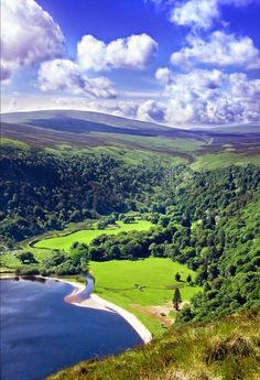 Wicklow Mountains south of Dublin city in Ireland..