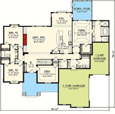Split Bedroom Ranch Home Plan - 89872AH | 1st Floor Master Suite, CAD Available, Corner Lot, PDF, Ranch, Split Bedrooms, Traditional | Architectural Designs