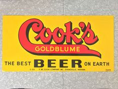 Cook's Goldblume The Best Beer On Earth Double by Streetreasure