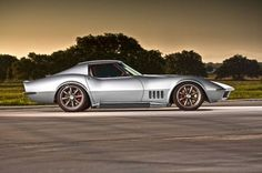 Pro Touring 1968 Chevrolet chevy Corvette coupe (c3) wallpaper background