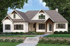 i love this one farmhouse style house plan 3 beds 2 00 baths 2187 sq ft plan 927 989 exterior Craftsman Style Homes, Craftsman House Plans, Country House Plans, New House Plans, Brick Ranch House Plans, 2200 Sq Ft House Plans, Simple House Plans, Modern Farmhouse Plans, Farmhouse Design