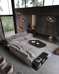 "Houses Porn 🏡 on Twitter: ""… "" Home Design Decor, Home Room Design, Dream Home Design, Modern House Design, Modern Interior Design, Living Room Designs, Home Decor, Modern Apartment Design, Luxury Bedroom Design"