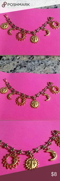 """SUN & MOON BRACELET, STAMPED ,""""DVF"""" CUTE, SEE PICTURES FOR DESCRIPTIONS Jewelry Bracelets"""