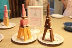 This Paris-themed birthday party is sure to delight. From fun passports, stamped at each activity station, to DIY Eiffel Towers and crepe making, guests will discover a little bit of France in everything they do. This post has easy food ideas, party decor Paris Themed Birthday Party, Birthday Party Decorations Diy, 10th Birthday Parties, Birthday Fun, Birthday Party Themes, Birthday Ideas, Paris Party Decorations, Birthday Crafts, Birthday Board
