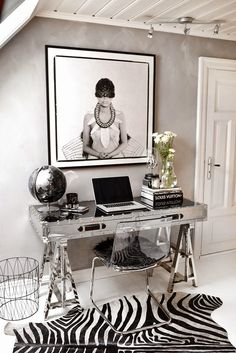 Very chic home office - Decoration for House Home Office Space, Home Office Design, Home Office Decor, House Design, Office Ideas, Workspace Design, Desk Space, Office Spaces, Office Nook