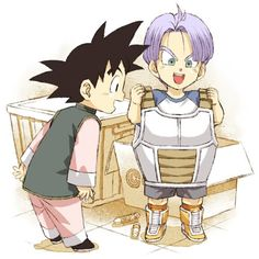 """Goten and Trunks. <3 """"one day, I'll be just as strong as my dad!"""""""