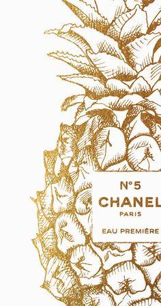 Coco Chanel Wallpaper, Chanel Wallpapers, Chanel Background, Pineapple Illustration, Chanel Poster, Pineapple Wallpaper, Watercolor Wallpaper, Watercolor Fashion, Fashion Wall Art