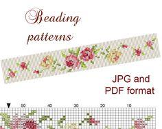 Peyote Bracelet Pattern Flower Beading by BeadingBeeTutorials