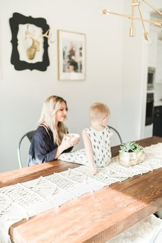 Modern Bohemian California Home Tour // macrame table runner
