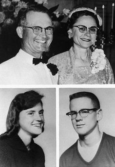 A wealthy Western Kansas wheat farmer, his wife, and two younger children were found shot to death in their Holcomb, Kansas, home on 11/15/1959. Dead were Herb Clutter, 48, his wife, Bonnie, 45, (top), son Kenyon, 15, (lower right) and daughter Nancy, 16, (lower left).  Perry Smith & Richard Hickock eventually confessed to the murders and were executed. In Cold Blood, Edward Smith, True Stories, Murder Stories, Famous Murders, American, Crime Scenes, Evil People, Criminology