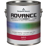 Love this product! Benjamin Moore Advance paint, It is the best for doors/ trim and furniture/ cabinets. This paint is self leveling leaving your project looking like it has a sprayed on finish.