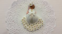 So very cute. Cant go wrong with this pretty cake topper . Baby Shower, Birthday, Baptism, Cake Topper, christening