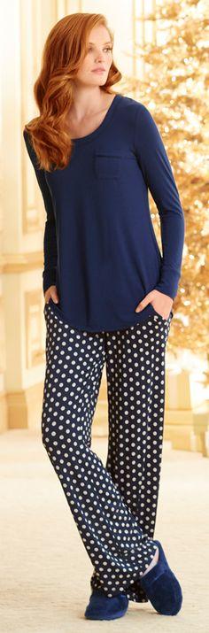 Sleep with ease in these cozy pajamas by Soma! Night Suit, Night Gown, Pajama Set, Pajama Party, Lounge Wear, Lounge Pants, Cozy Pajamas, Long Sleeve Pyjamas, Lingerie