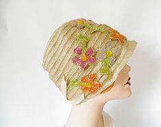 Vintage 1920s cloche hat, flapper Roaring twenties