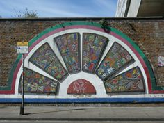 Mosaic on Brick Lane. Brick Lane, Places Of Interest, Ferris Wheel, Mosaic, Fair Grounds, London, Travel, Brick Road, Viajes
