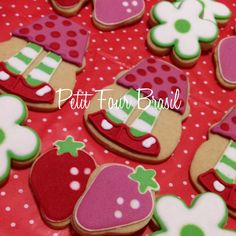 Strawberry Shortcake Party Cookies.