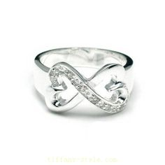 Tiffany  Co Outlet Paloma Picasso Double Loving Heart Ring - Click Image to Close
