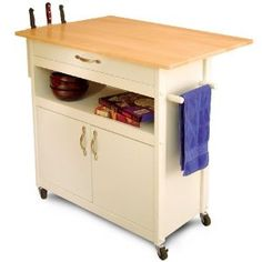 #5: Catskill Craftsmen Drop Leaf Utility Cart.