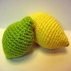 free lemon & lime amigurumi pattern