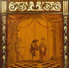 Detail marquetry  1775 by David Roentgen 1743 - 1807 Germany