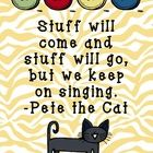 Pete the Cat by author Eric Litwin and illustrator James Dean inspired posters. These posters are from the Pete the Cat Rockin' in My School Shoes ...