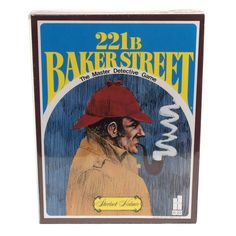 It's elementary, my dear Watson! Don your hat and pipe, and show Sherlock Holmes what a great detective you are with this 221B Baker Street - The Master Detective Game. 20 original Sherlock Holmes adventures Players travel the London game board, picking up clues while solving cases Includes: game board, instructions, die, tokens, Scotland Yard cards, skeleton key cards, clue answer booklet, checklist pad and 20 original cases 9''H x 9''W x 2 1/4''D Ages 12 years & up For 2-6 players  Size: O