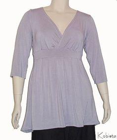 empire waist for plus size women | Plus Size Empire Waist Shirt -Bamboo/Beechtree Jersey Blouse -Tunic ...
