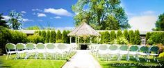 The gazebo in the Wedding Garden creates a beautiful backdrop for your wedding ceremony at the Village Green Resort in Cottage Grove, just south of Eugene, OR. #wedding #outdoors