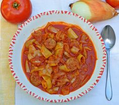 I've been craving this.  My favorite Hungarian dish, just without the sausage. Hungarian Vegetable Stew – Lesco