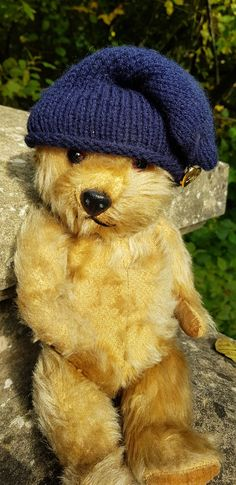 His name is 'Toad'. He was made by the English Teddy bear makers, Chiltern during the 1950's/1960's.