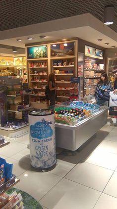 OXYLIFE WATER - pražské letiště Václava Havla - DUFRY. Oxygen water OXYLIFE WATER at the airport of Vaclav Havel, Prague. Duty Free shop, Prague, Praha