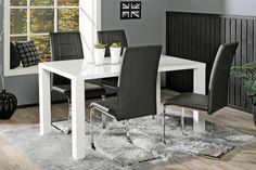 CAVA-ruokailuryhmä (pöytä 140x80cm+4 tuolia musta)