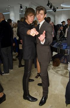 Miles Kane and Alex Turner. You can see more #mileskane stories at http://britpopnews.com  Images not owned by britpopnews