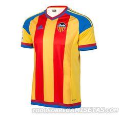 Equipación suplente Adidas de Valencia CF 15 16 Futebol 5276d95c01a87
