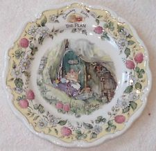 ❤RARE HTF ROYAL DOULTON Brambly HEDGE THE PLAN CHINA PLATE Collector Item MINT❤