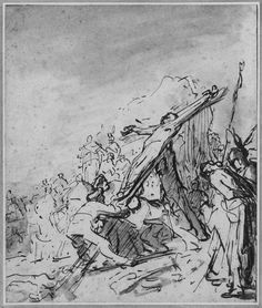 Elevation of the Cross, Rembrandt
