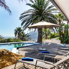 There's no better way to spend your weekend than in a sun chair by the pool with a spectacular view of Lion's Head! Sun Chair, Kick Backs, Cape Town, Chill, Relax, Camping, Patio, Crystals, Outdoor Decor