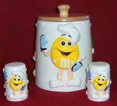 M & M Cookie Jar made in China by Lipper