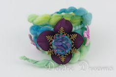 Art Yarn Bracelet Fish Bracelet Ocean Bracelet by DeidreDreams