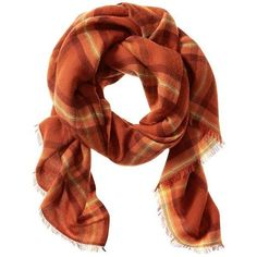 39283f097f702 Banana Republic Reese Plaid Scarf Size One Size - Orange lava (220 BRL) ❤